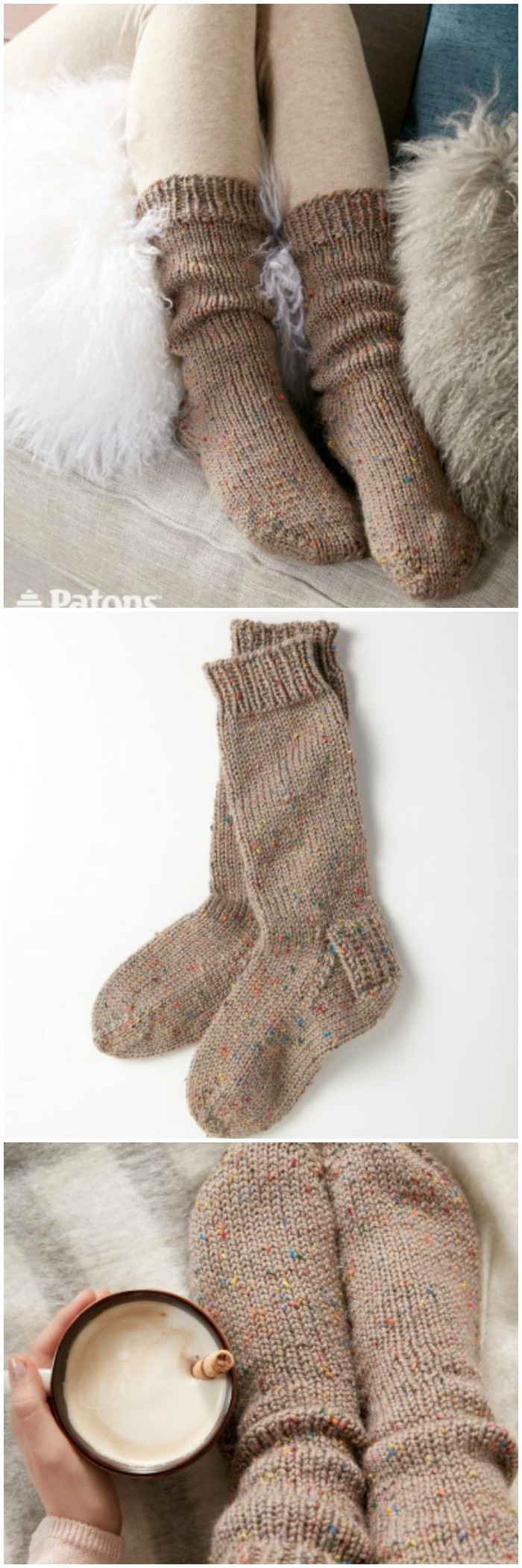 Crochet Slouchy Socks