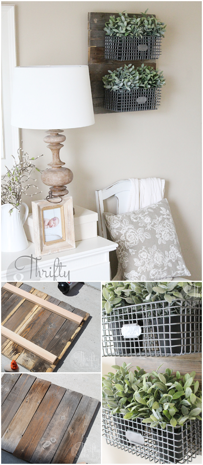 DIY Farmhouse Style Hanging Wire Baskets