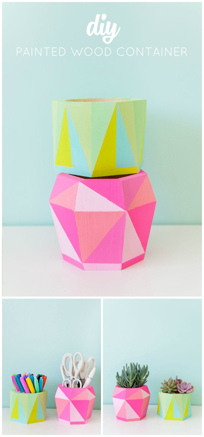 DIY Painted Wood Container