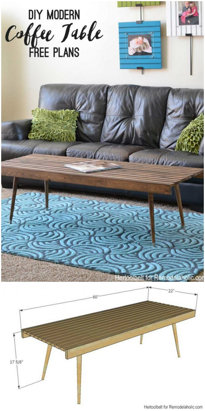 Modern Slat Coffee Table