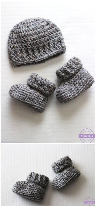 Parker Crochet Baby Booties