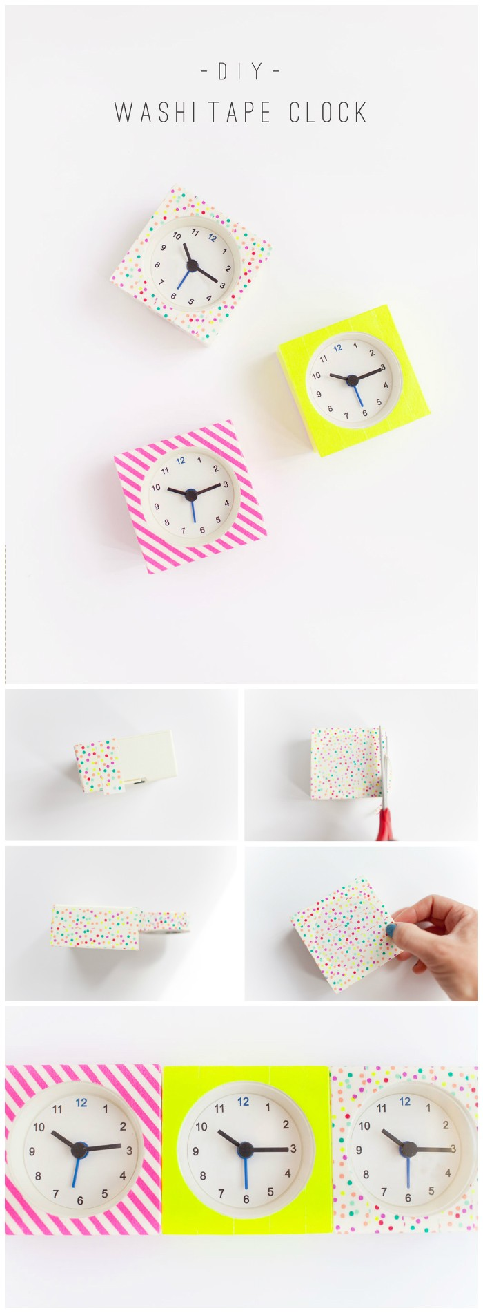 Washi Tape Clocks