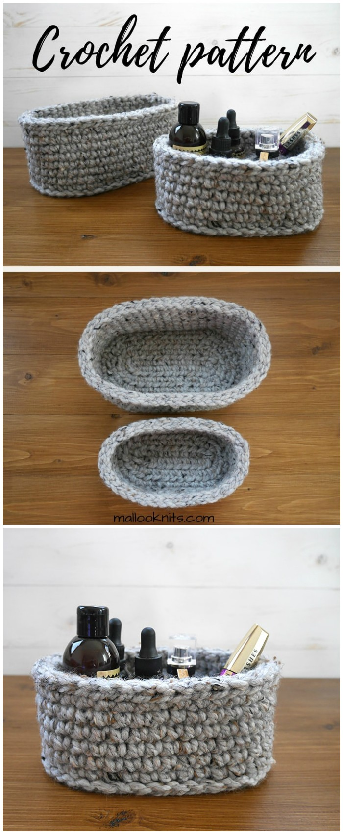 crochet oval basket pattern