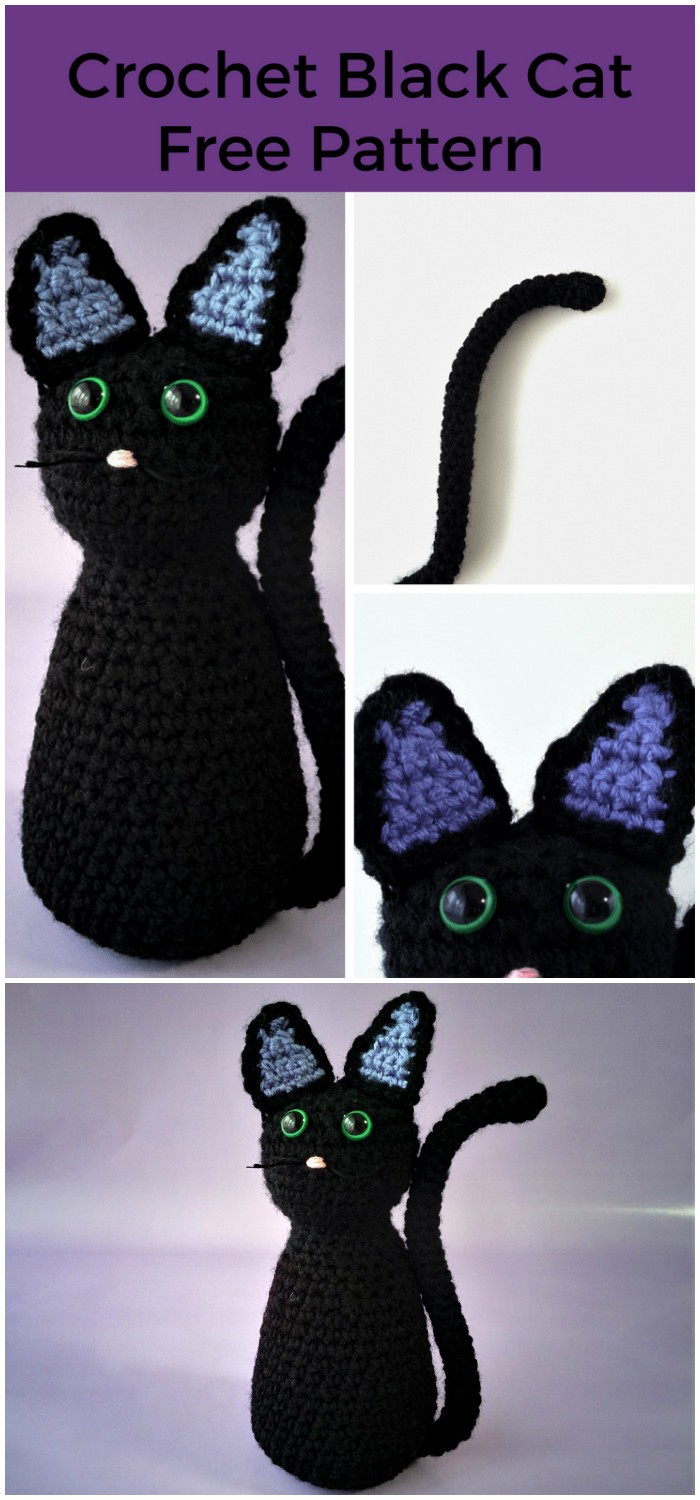 Crochet Black Cat
