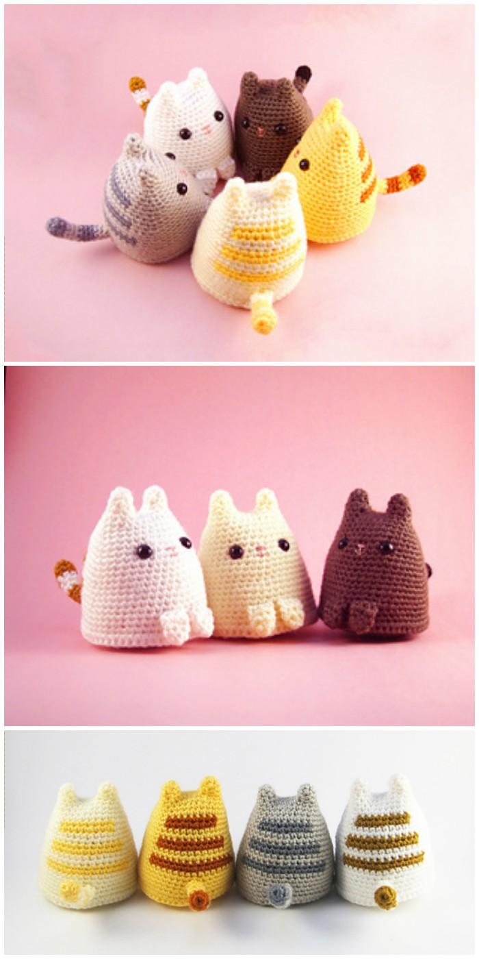 Crochet Dumpling Cat Amigurumi