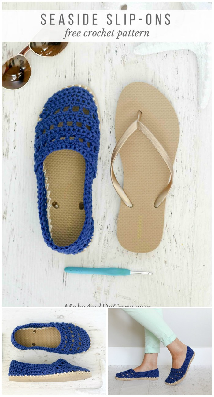 Crochet Shoes With Rubber Bottoms