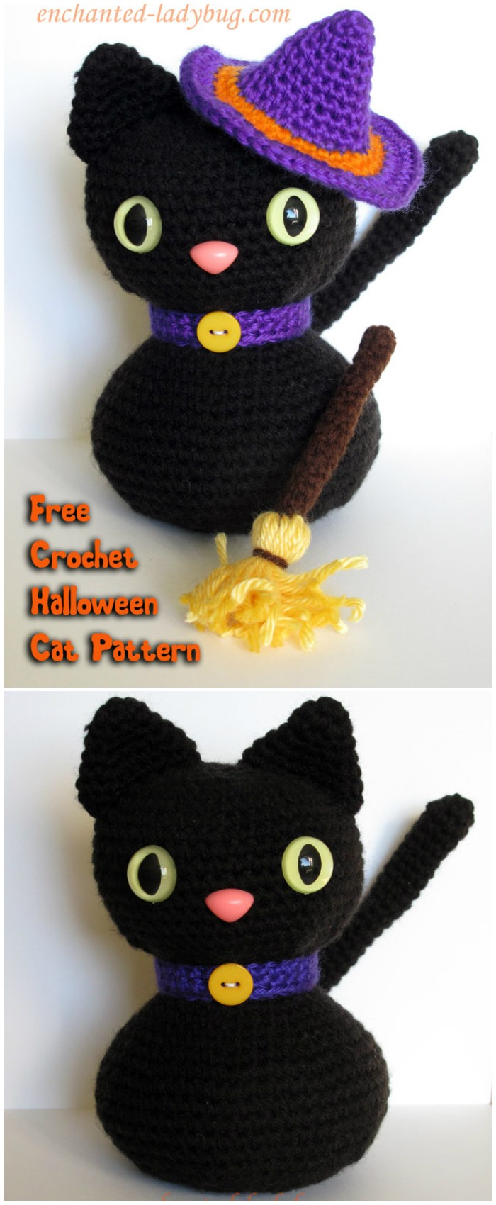 Free Crochet Amigurumi Halloween Black Cat