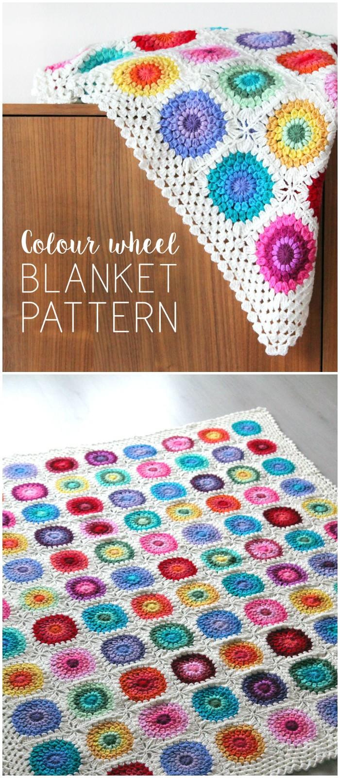 Free Crochet Pattern Colour Wheel Blanket