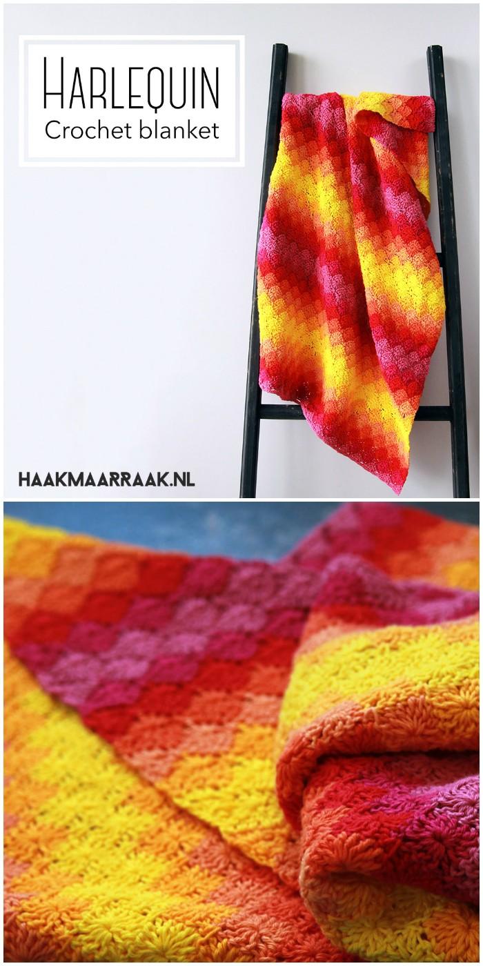 Free Crochet Pattern Harlequin Blanket