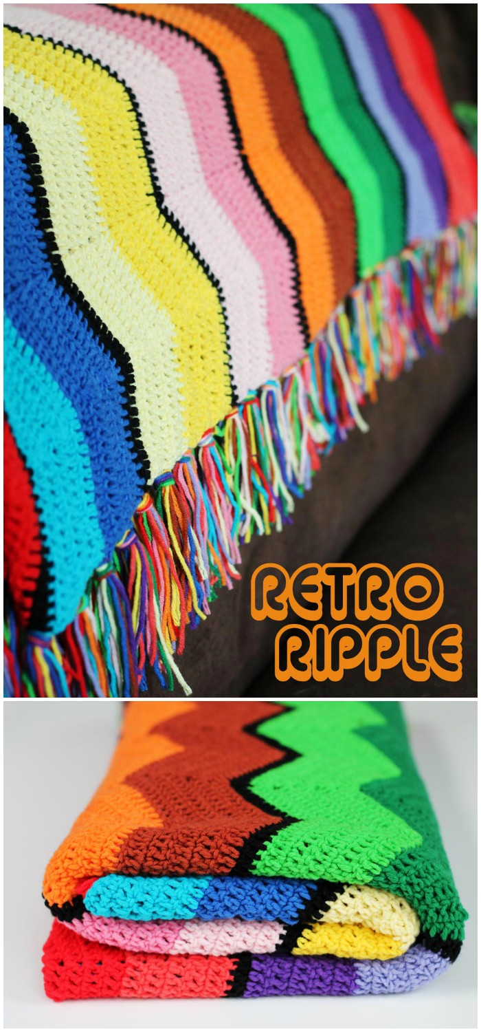 Free Crochet Pattern Retro Ripple