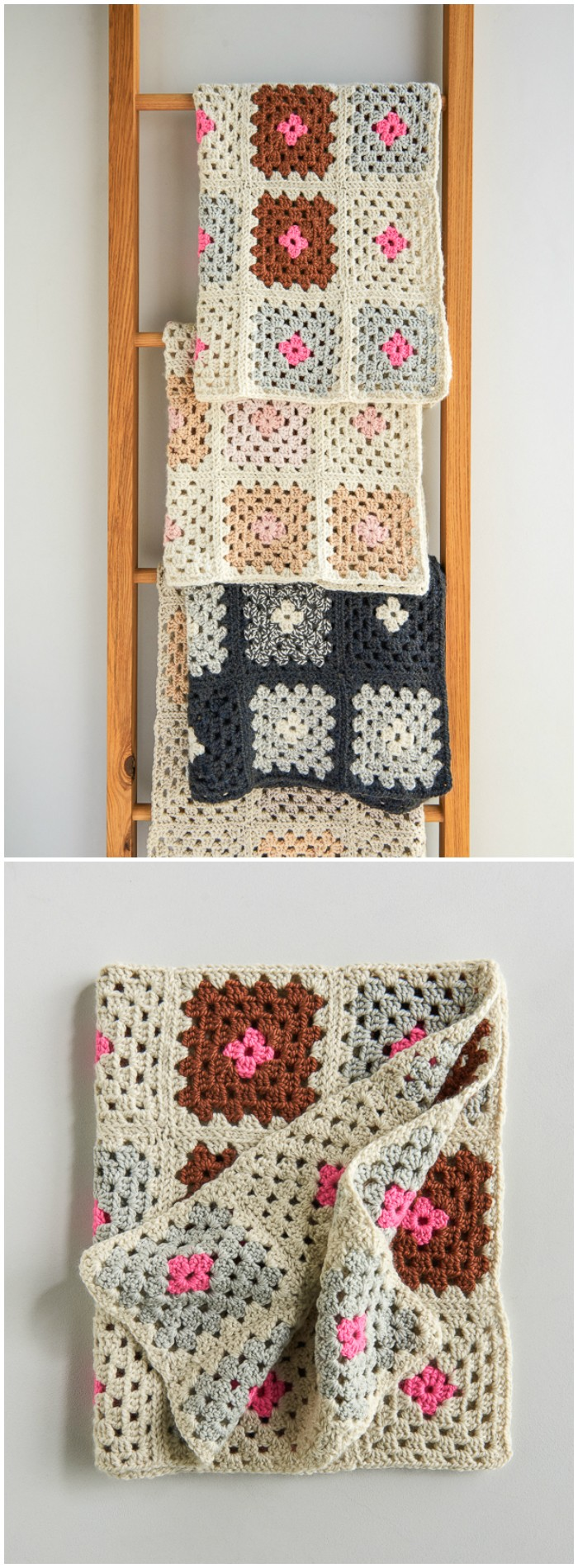 Granny Square Blanket in New Colors
