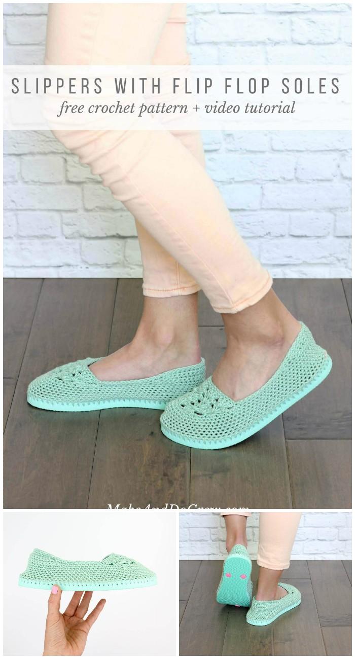 Lightweight Crochet Slippers