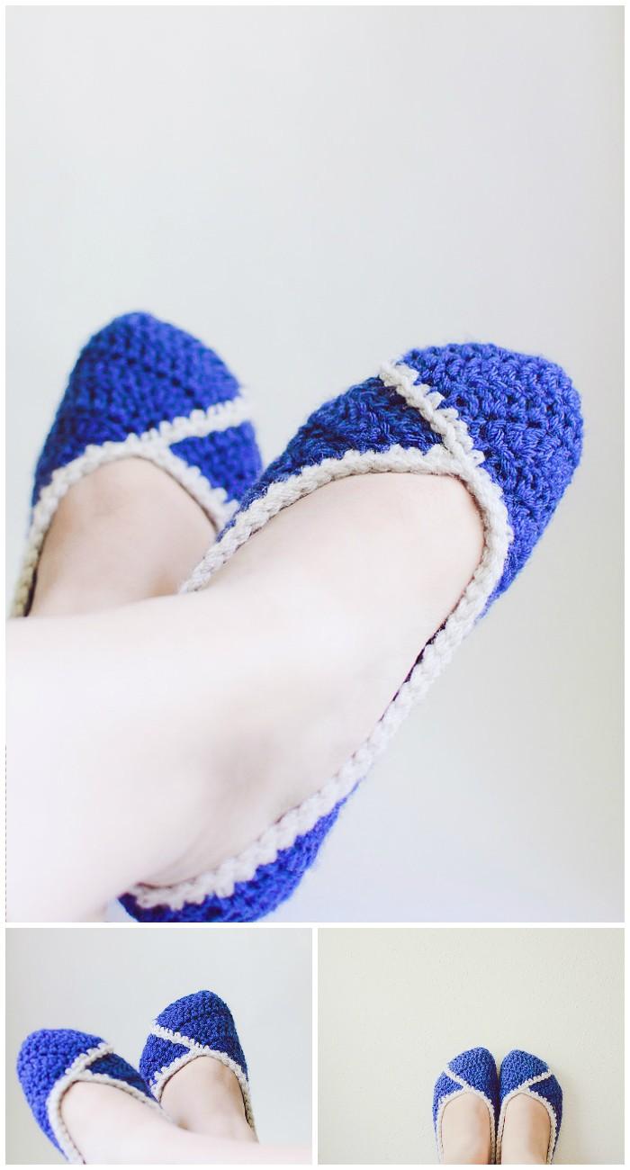 Lizzie Crochet Slippers