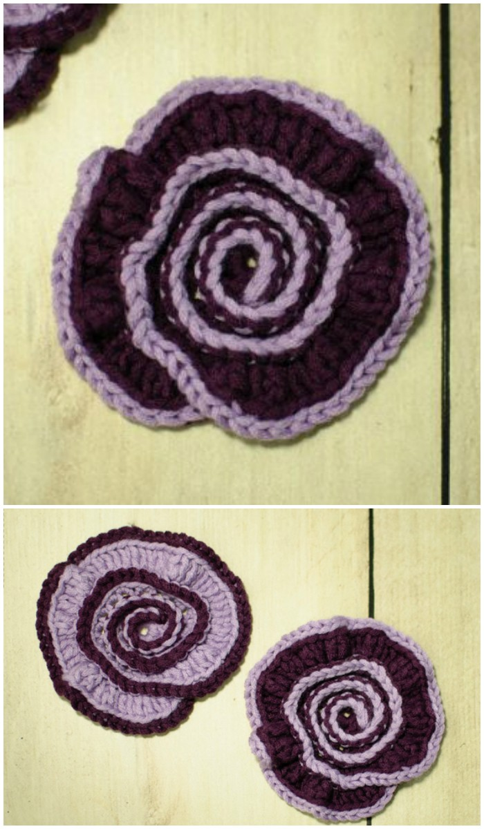 Spiral Flower Crochet Pattern