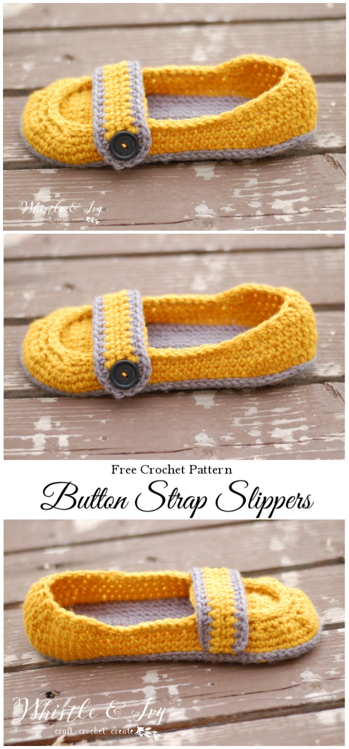 Women's Button Strap Slippers
