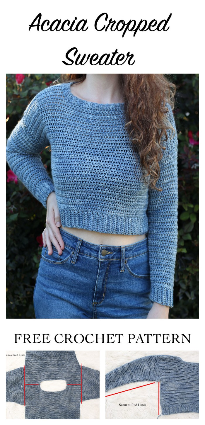 Acacia Cropped Sweater - Free Crochet Pattern