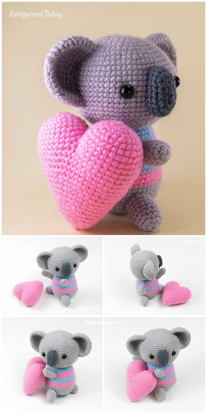 Amigurumi Koala With Heart Free Pattern By Amigurumi Today