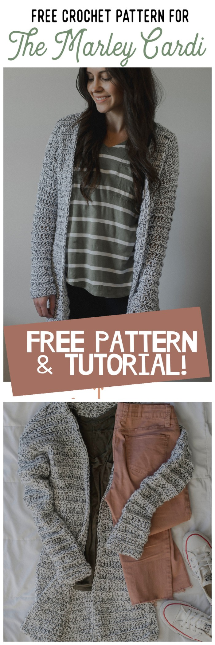 Crochet Chunky Cardigan Sweater