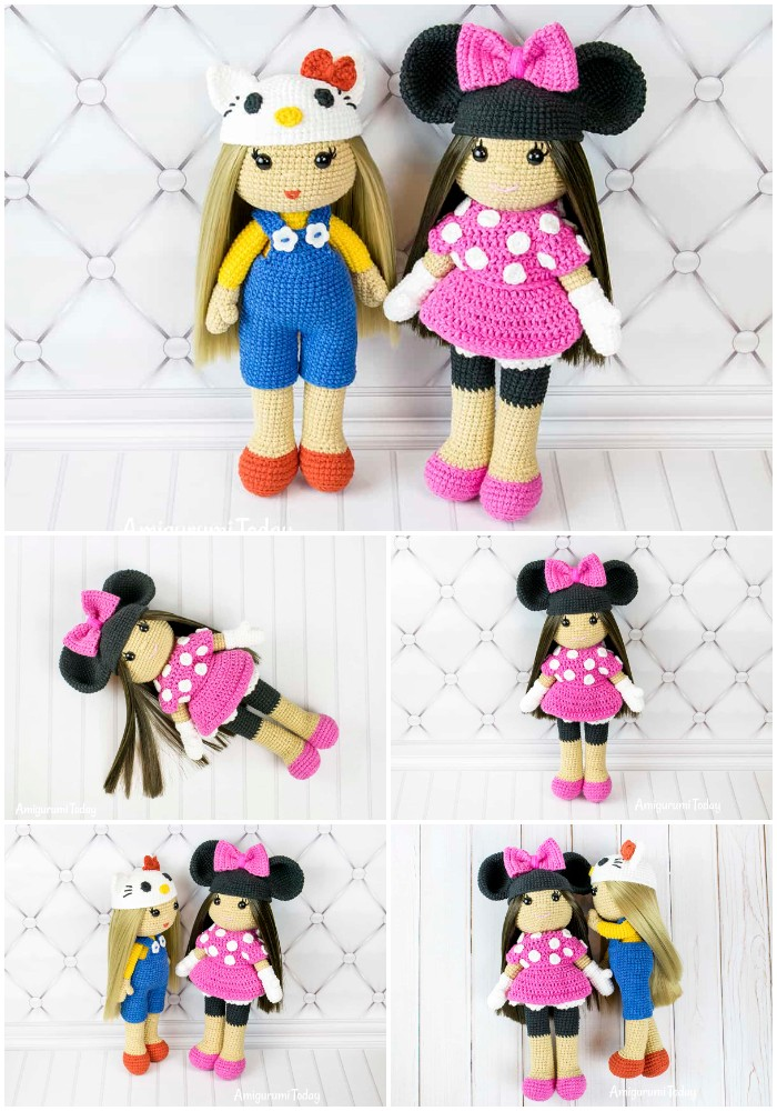 Crochet Doll In Minnie Mouse Costume Free Amigurumi Pattern By Amigurumi Today