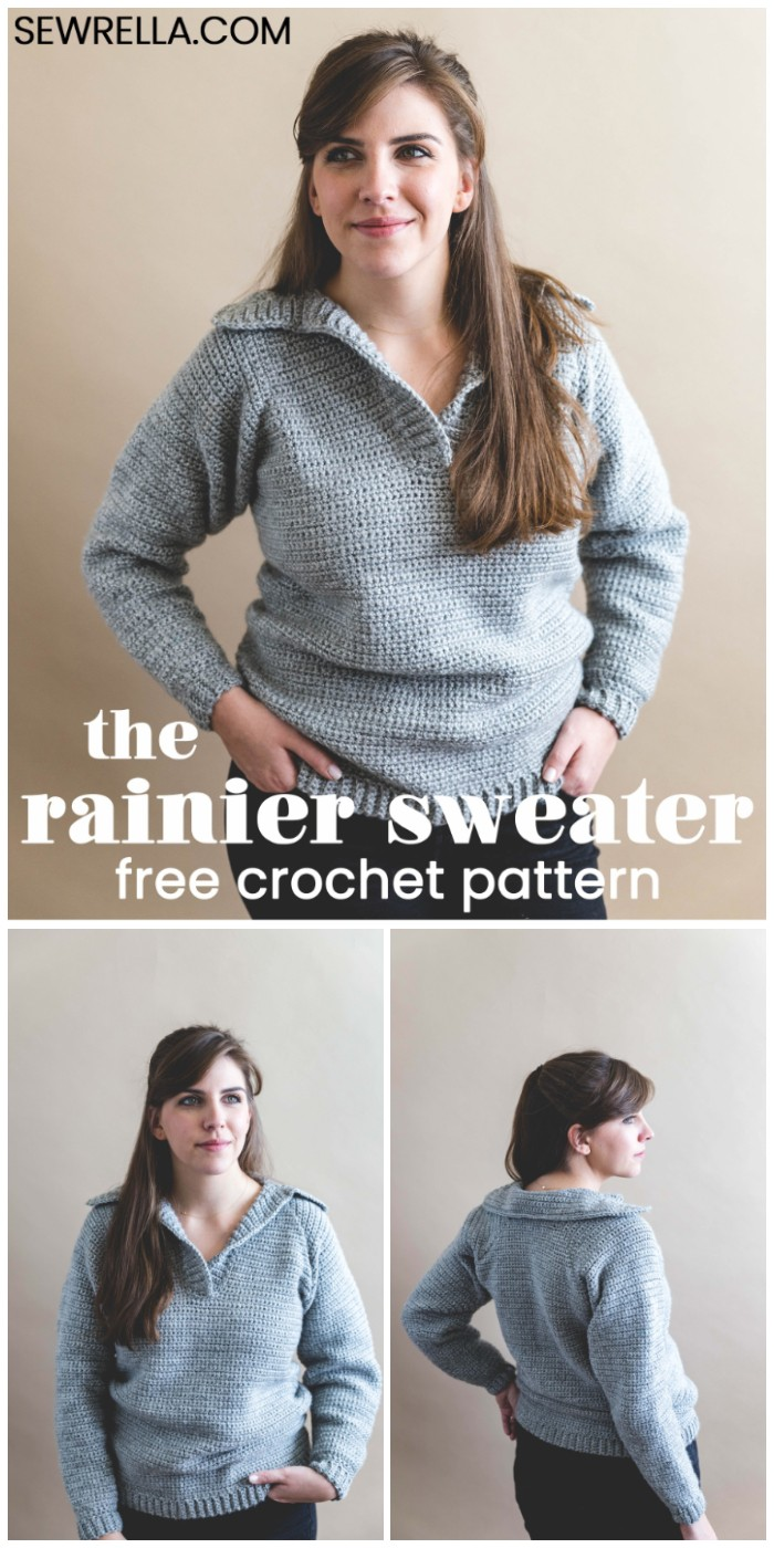 Crochet Rainier Sweater – Free Pattern