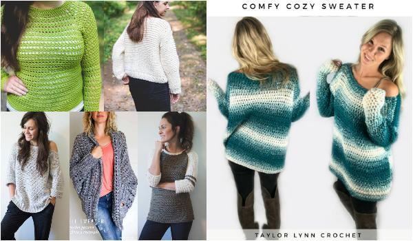Cozy And Stylish Crochet Sweater -Free Patterns