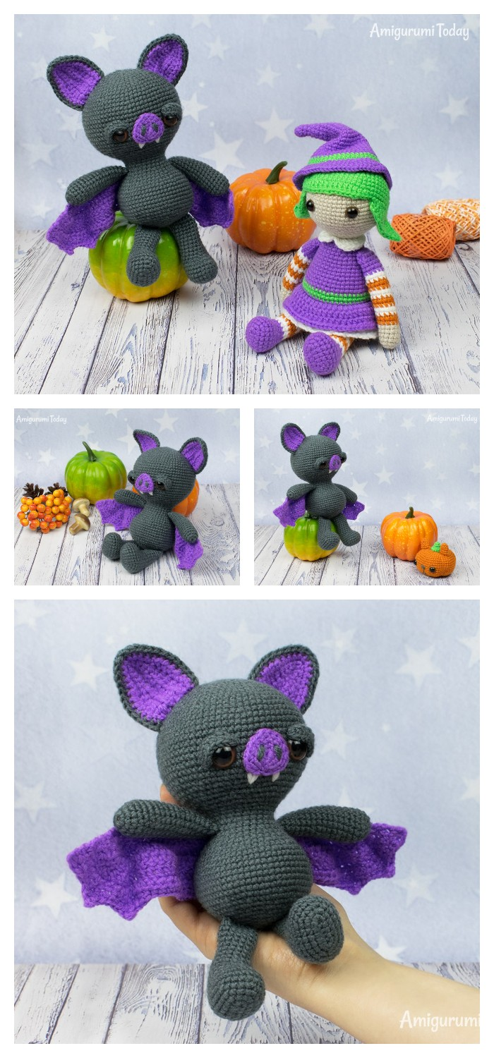 Dreamy Bat Amigurumi Halloween Crochet Pattern
