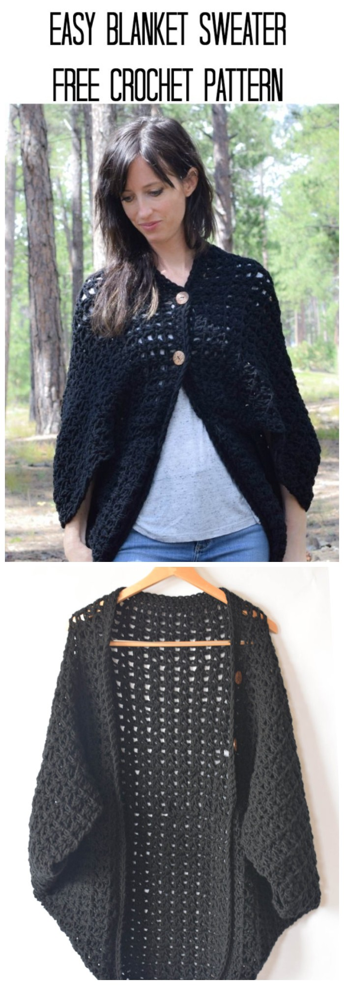 Blanket Sweater Crochet Pattern