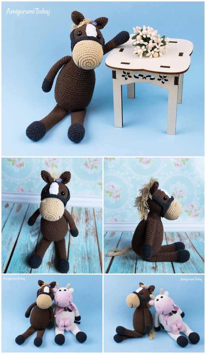 Farm Horse Crochet Pattern By Amigurumi Today