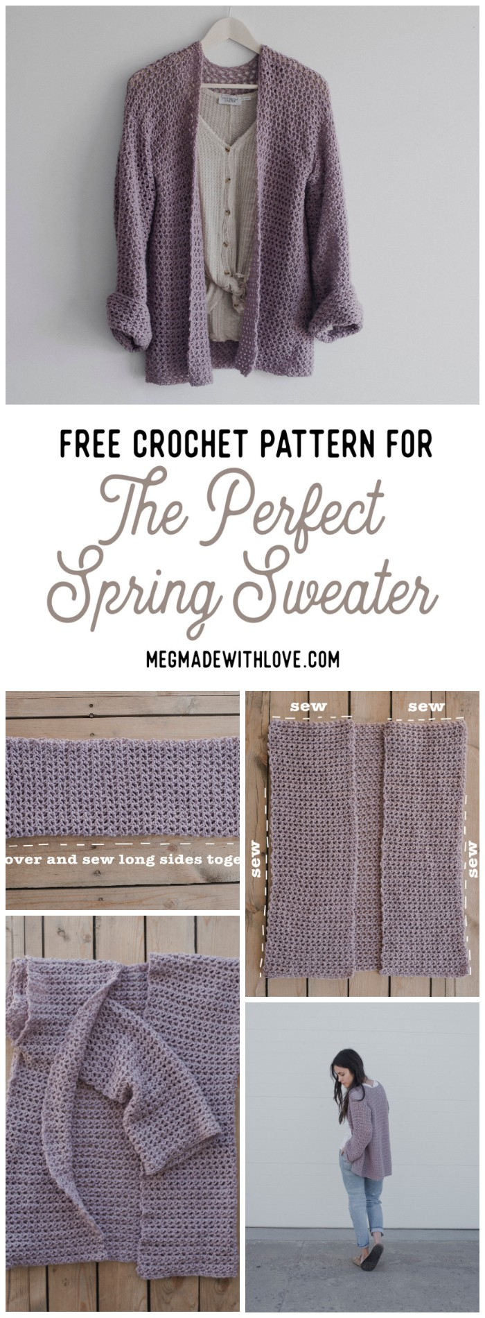 Free Crochet Pattern for The Perfect Spring Sweater