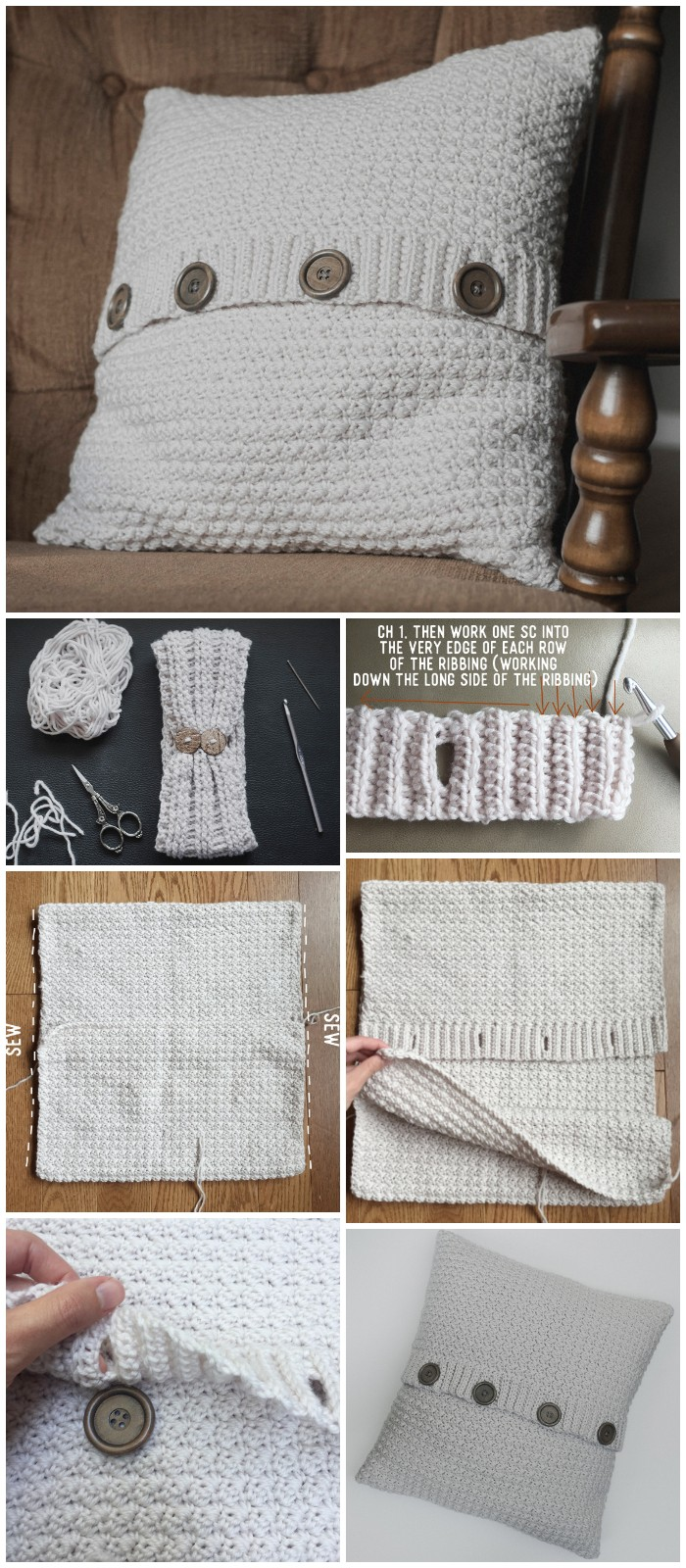 Free Crochet Pattern for the Pillow Cardigan