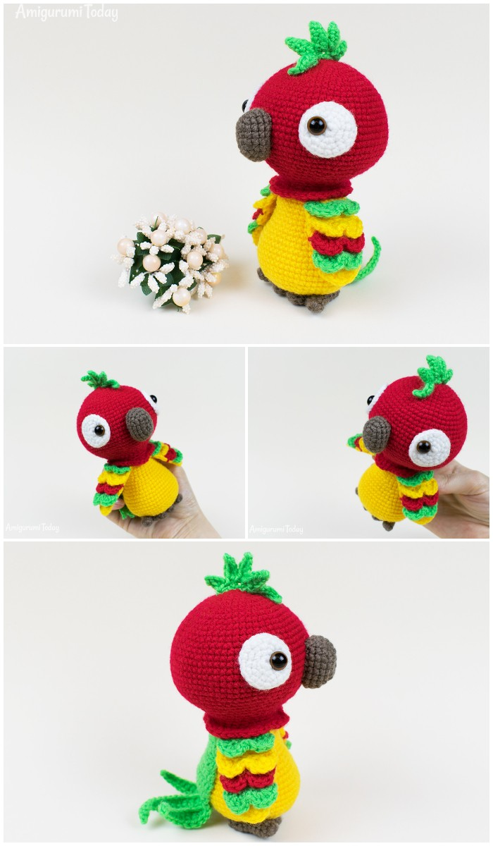 Free Pedro The Parrot Crochet Pattern