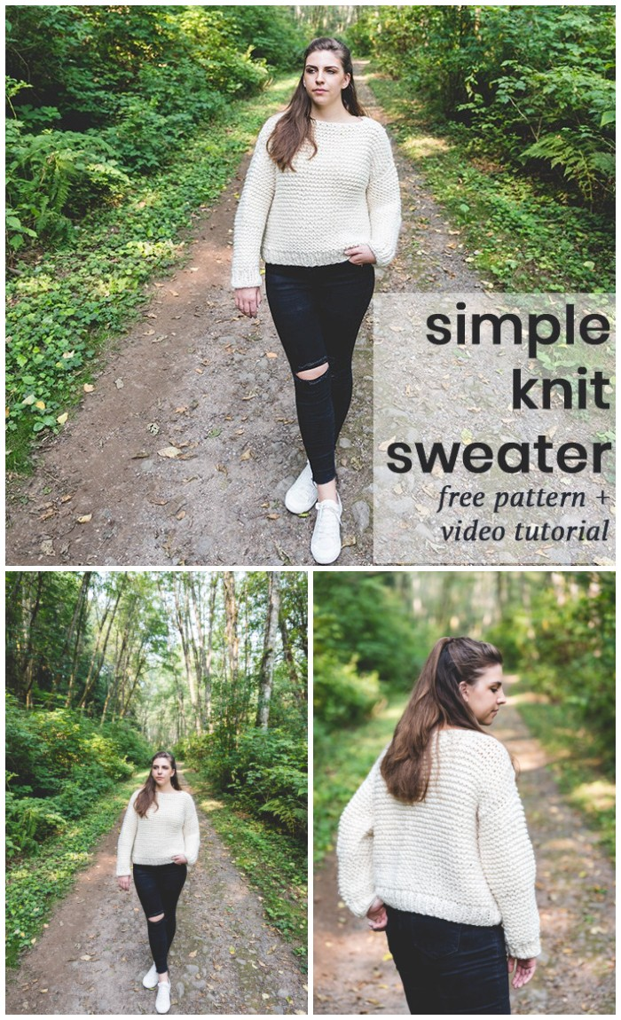 Garter Stitch Sweater – Free Pattern