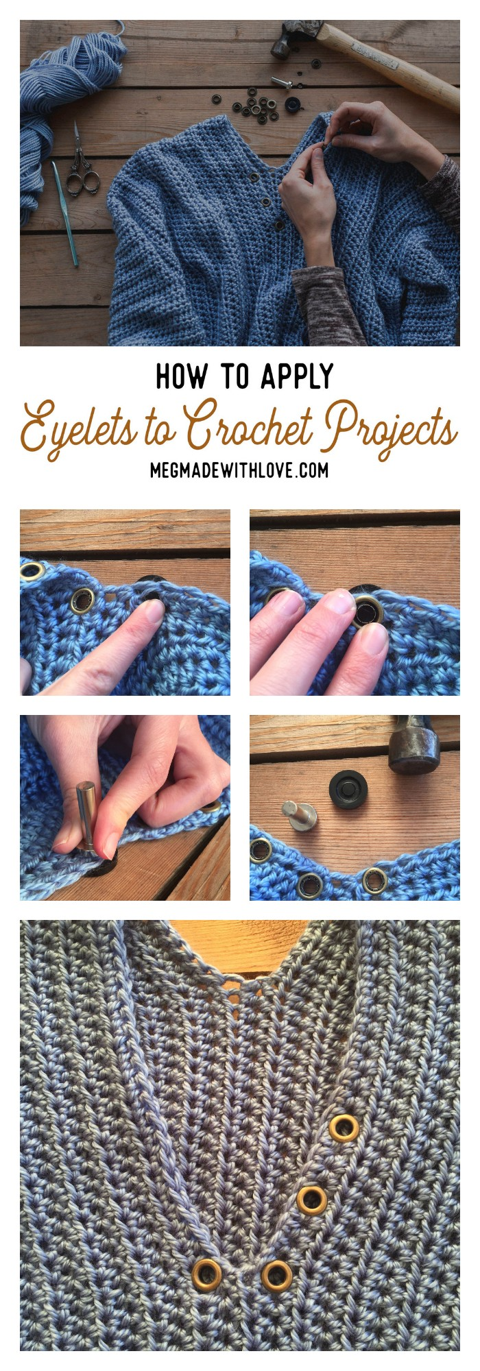 How to Apply Eyelets to Your Crochet Projects