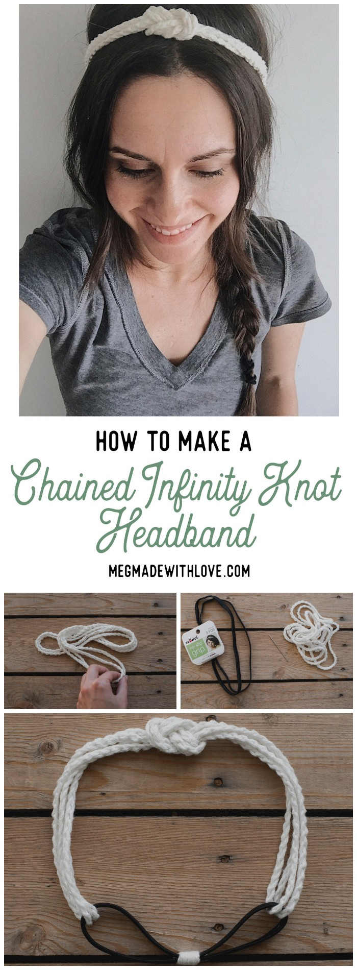 How to Make a Chained Infinity Knot Headband