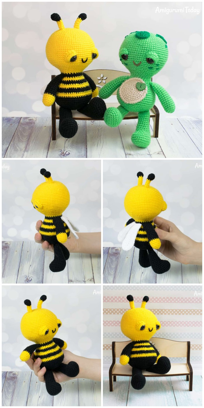 Soft Dreamy Bee Amigurumi Pattern