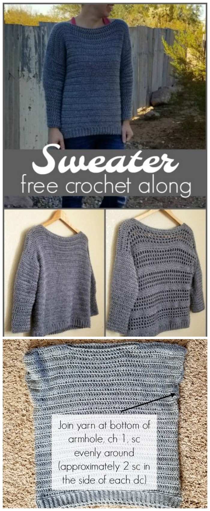 Sweater Crochet Along