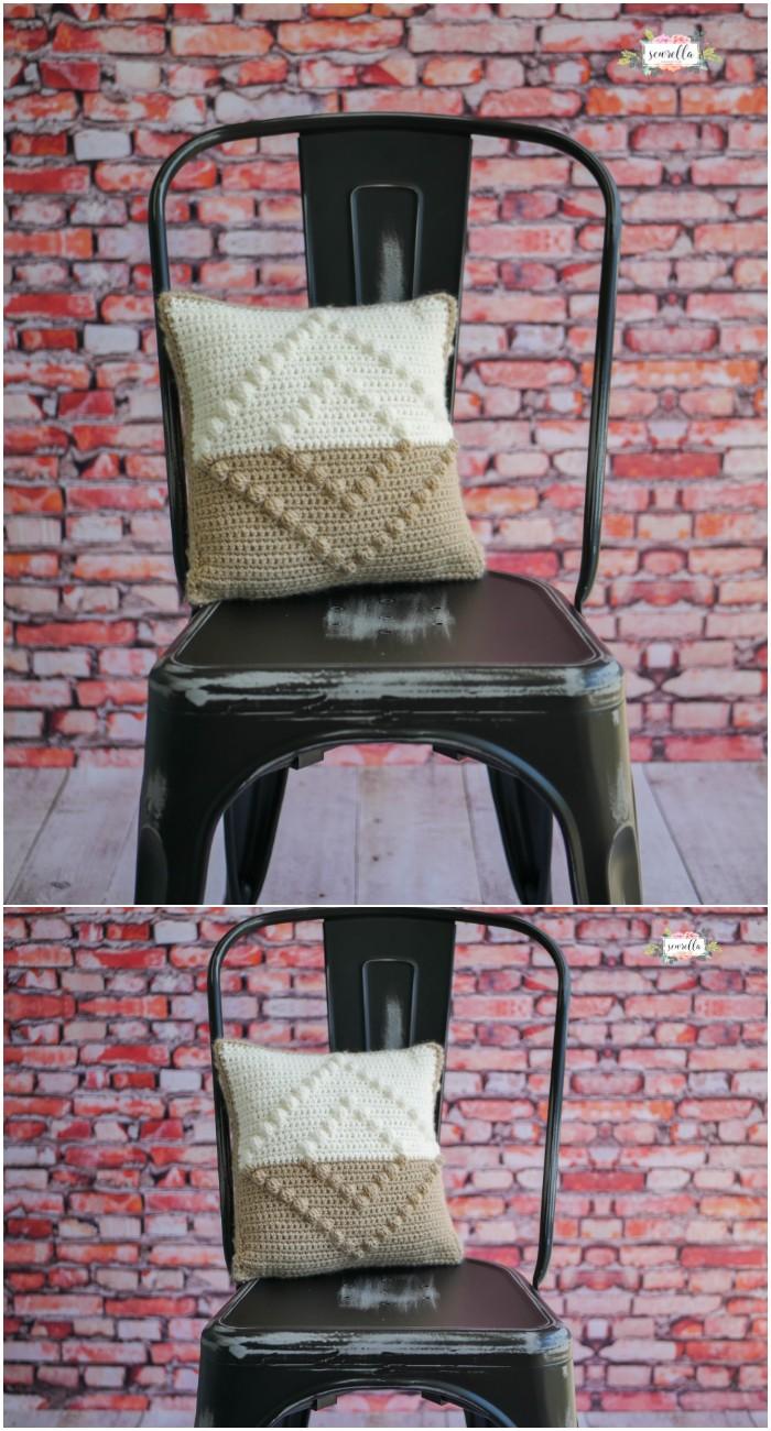Bobble Crochet Pillow