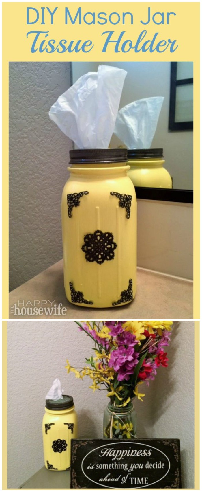DIY Mason Jar Tissue Holder
