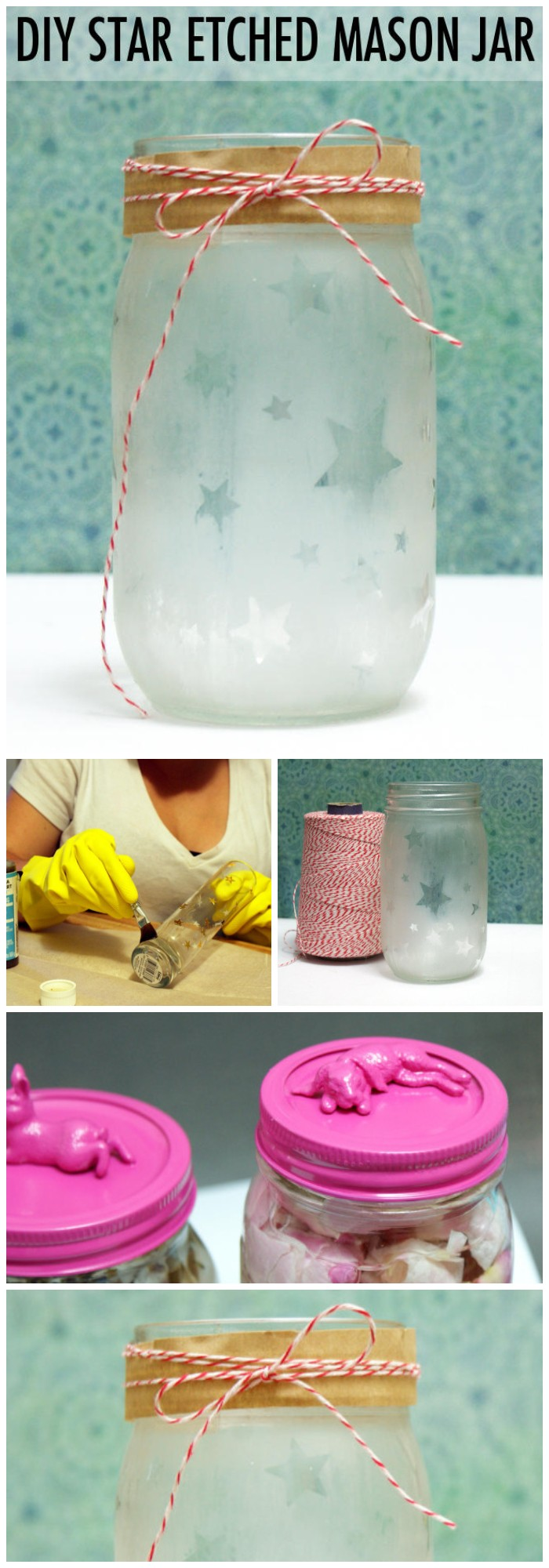 DIY Star Etched Mason Jar