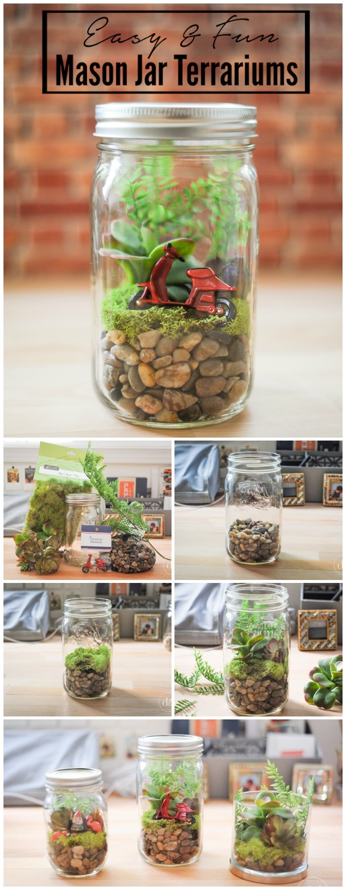 Easy Mason Jar DIY Terrarium