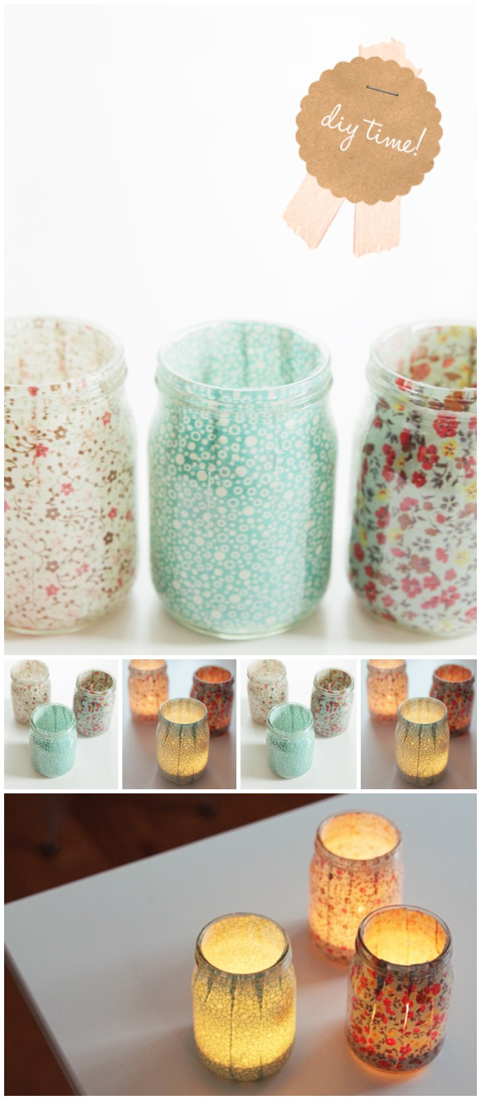 Fabric Trim Votives