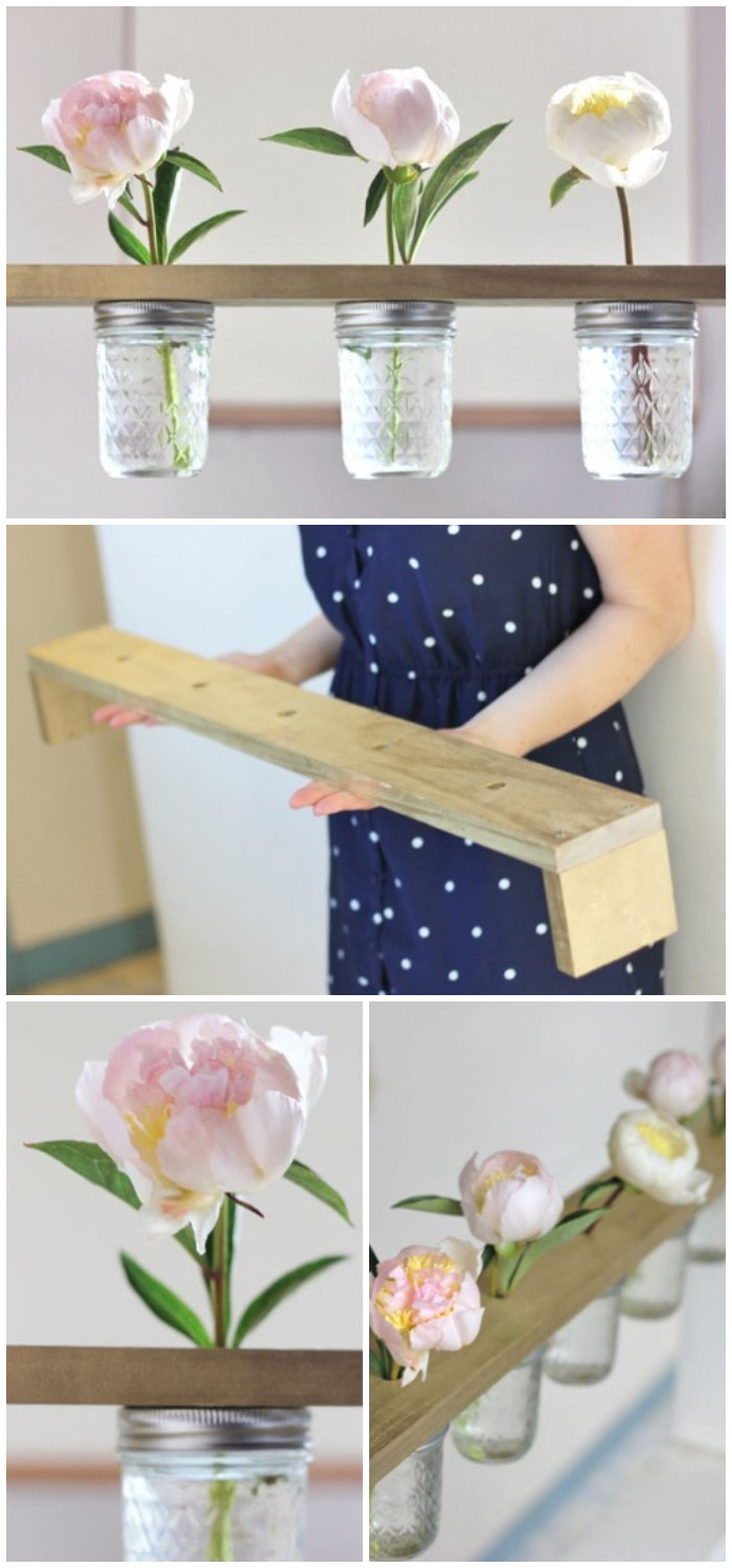 Hanging Flower Shelf