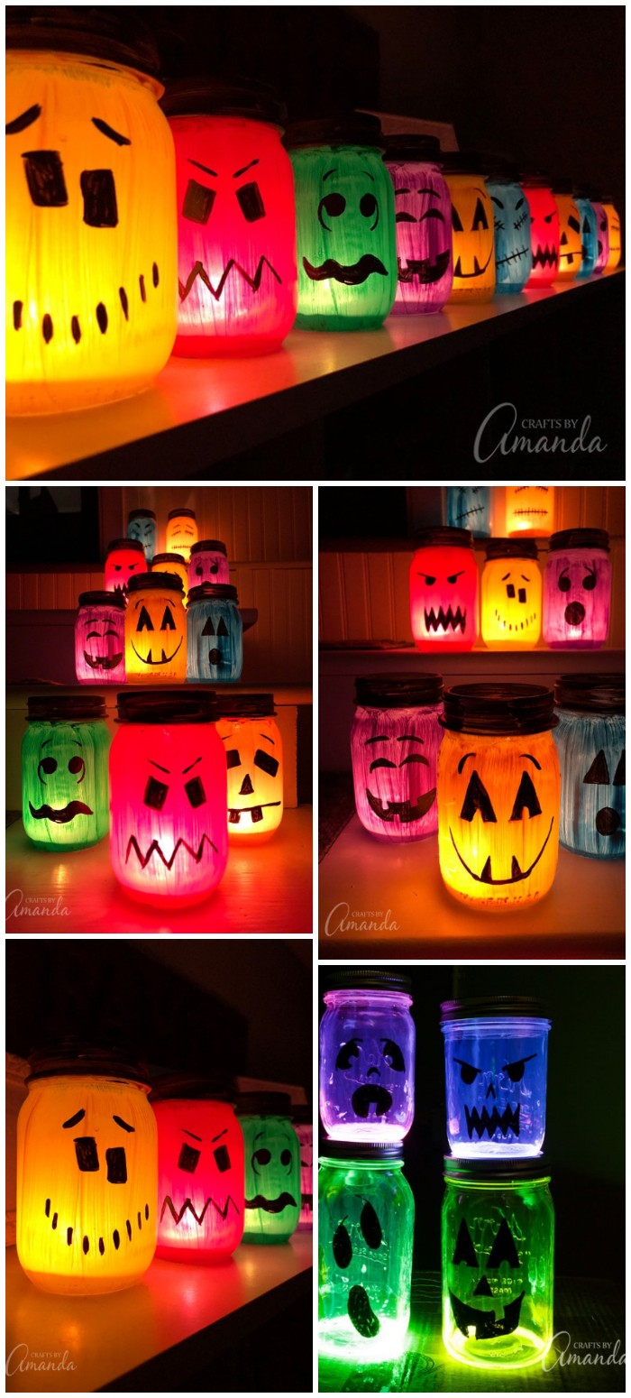 Painted Jar Luminaries